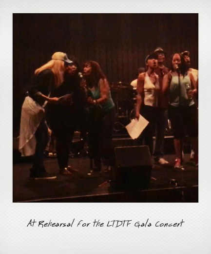 Nikkole at rehearsal for the LTDTF Gala with The Emotions, Shanice and Vaughn Family