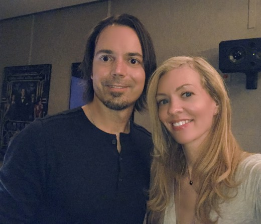 Nikkole pictured with Music Editor Jason Ruder in the editing bay
