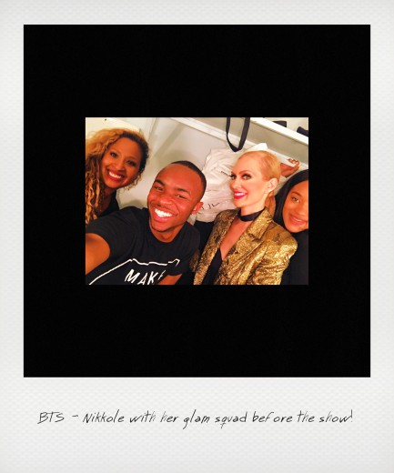 Nikkole with her glam squad before the show