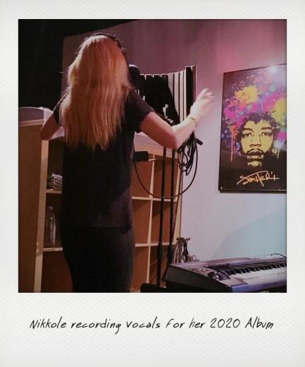 Nikkole recording vocals