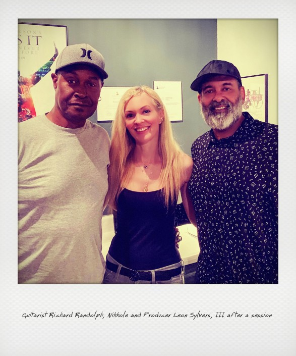 Guitarist Richard Randolph, Nikkole & Producer Leon Sylvers, III after a session