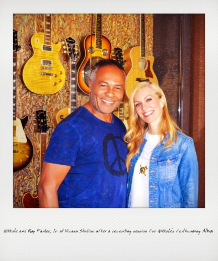 Nikkole & Ray Parker, Jr. at Vicasa Studios after a recording session for Nikkole's forthcoming album