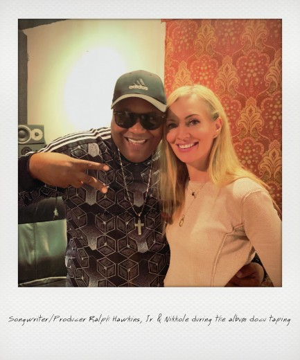 Songwriter / Producer Ralph Hawkins, Jr. & Nikkole during the album docu taping