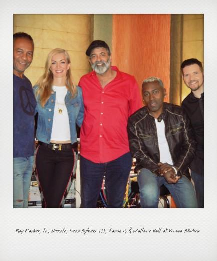 Ray Parker, Jr., Nikkole, Leon Sylvers III, Aaron G., & Wallace Hall at Vicasa Studios