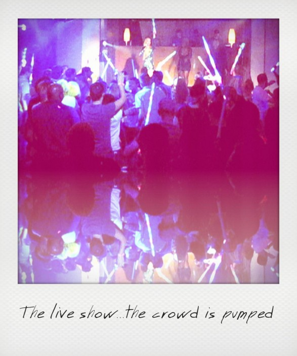 The live show...the crowd is pumped!