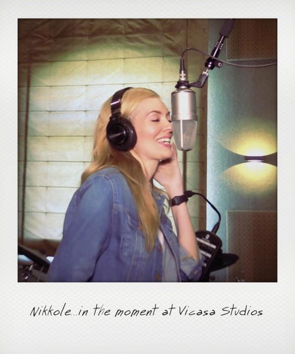 Nikkole recording at VICASA Studios