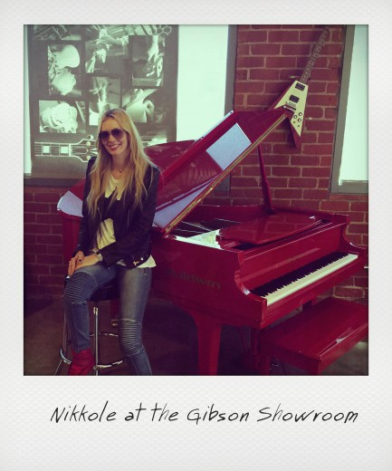 Nikkole at the Gibson Showroom