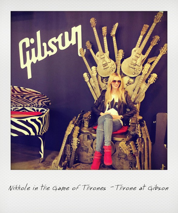 Nikkole at Gibson in the Game of Thrones 'Throne'