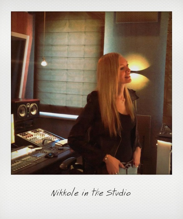 Nikkole in the Studio