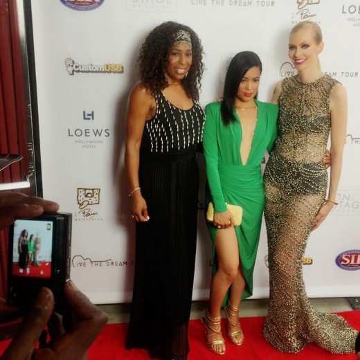Dawnn Lewis, Melissa B and Nikkole on the red carpet at the LTDTF Gala Concert