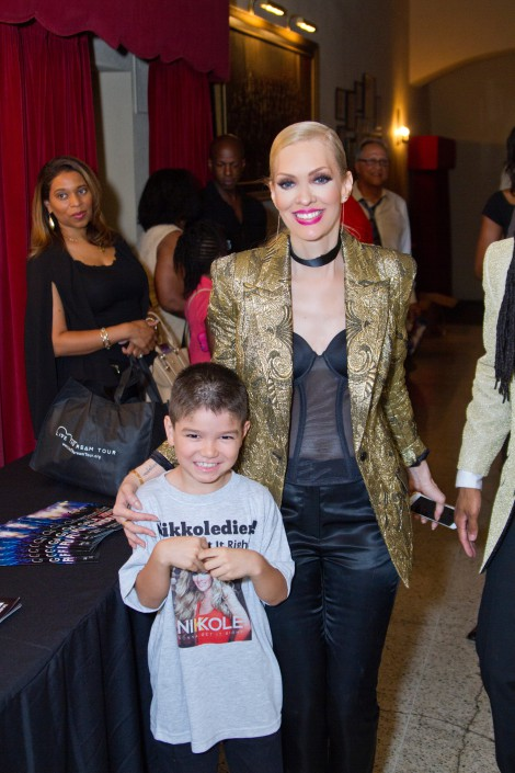 Nikkole and lil' Nikkoldier after the show at the LTDTF Gala Concert