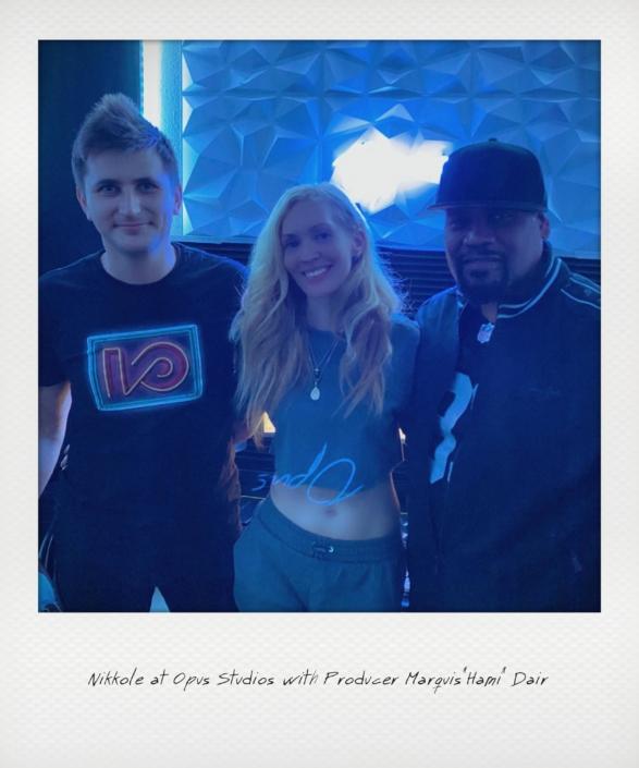 "Nikkole at Opus studio with Marquis ""Hami"" Dair"