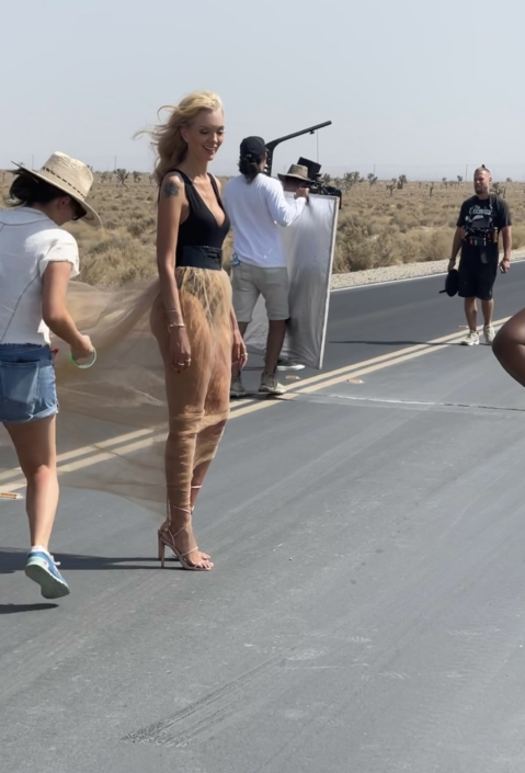 """On location shooting the video for """"All Mine"""""""
