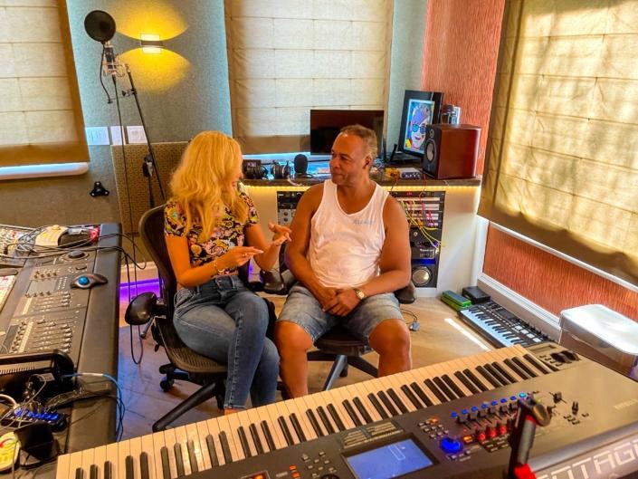Nikkole and Ray Parker Jr. in Vicasa Studio
